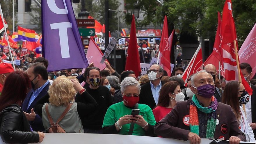 Madrid toma la calle en este 1 de mayo atípico de pandemia y elecciones