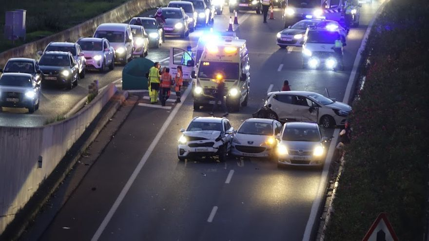 Un accidente múltiple en la autovía de Andratx se salda con cuatro heridos leves