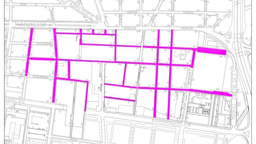 Infraestructuras renueva el asfalto de 16 calles de La Soledat Sud a partir de hoy