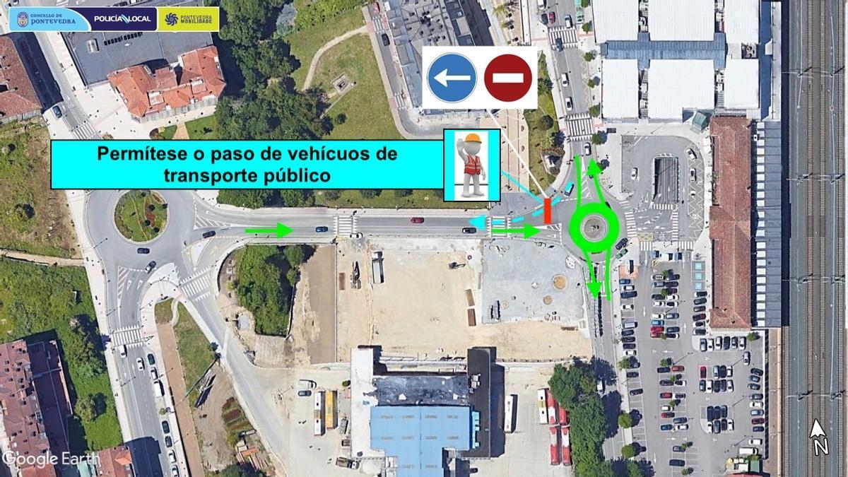 Plano de movilidad en la zona de la Estación