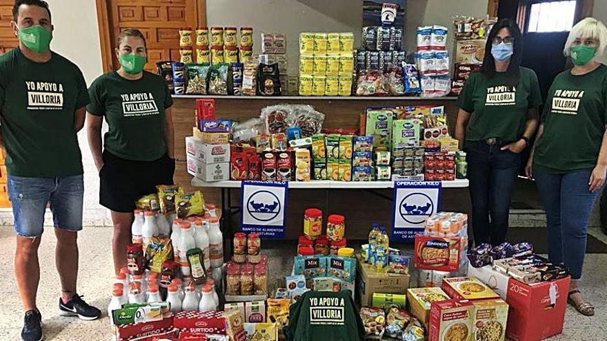 Los vecinos de Villoria entregan comida al Banco de Alimentos