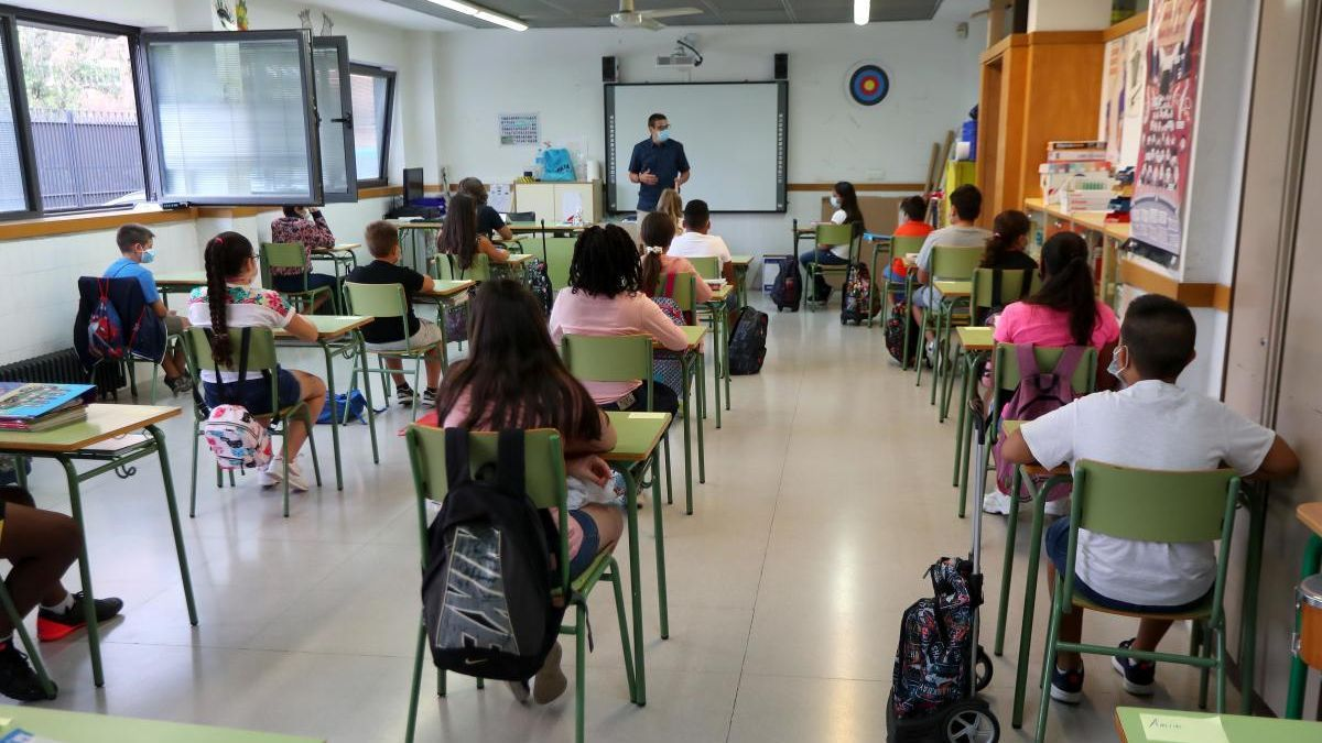 Pupils in a classroom.