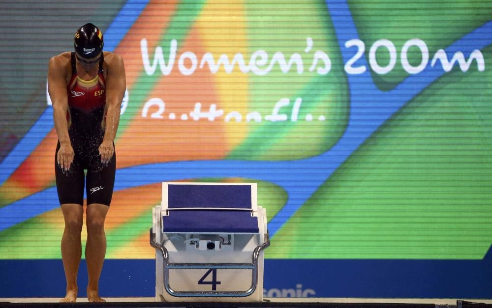 Mireia Belmonte en las semifinales de mariposa