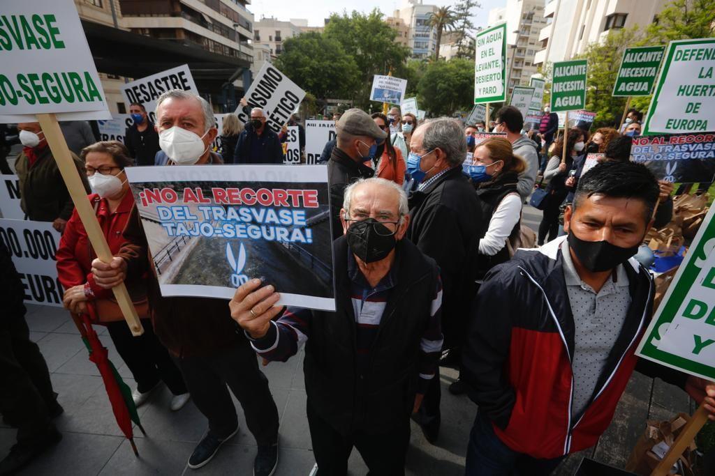 Los agricultores de la provincia se concentran en Alicante contra los recortes del Tajo-Segura