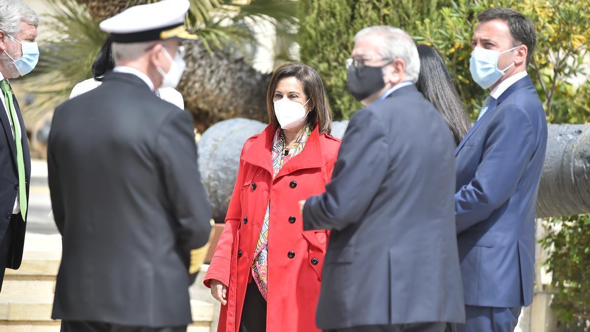 Los Reyes y sus hijas visitan Cartagena para la puesta a flote del submarino S81