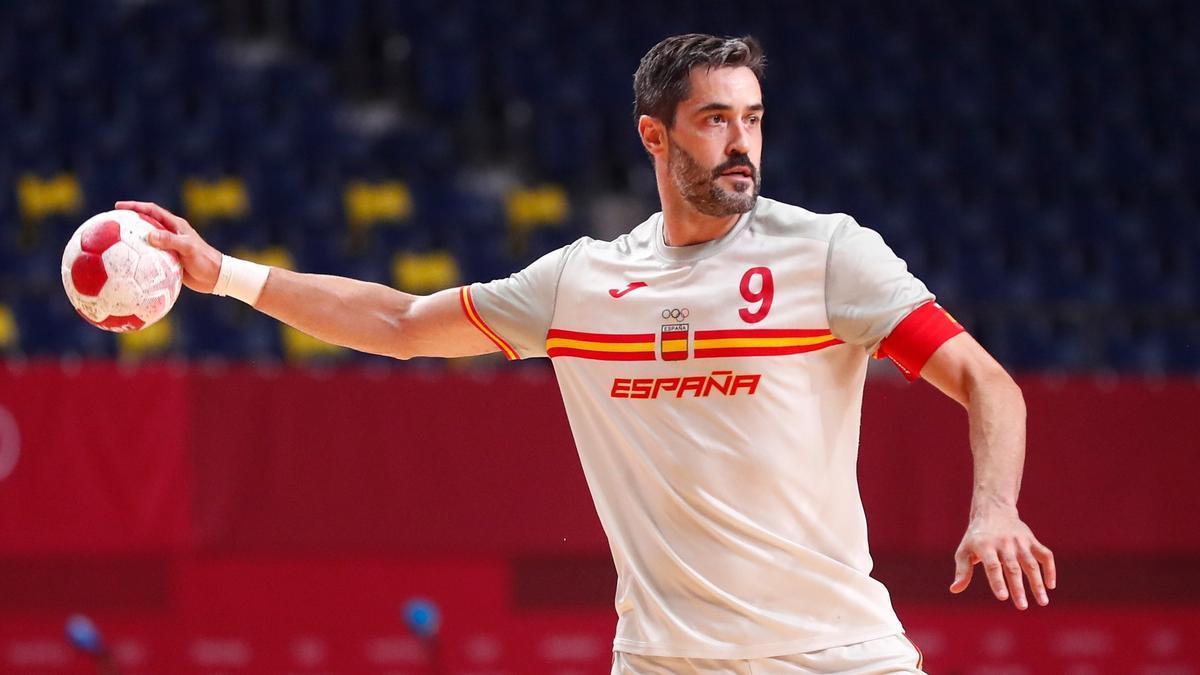 El jugador y capità de la selecció Raúl Entrerríos