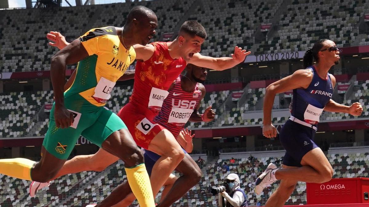 Asier Martínez, tercero en su semifinal.