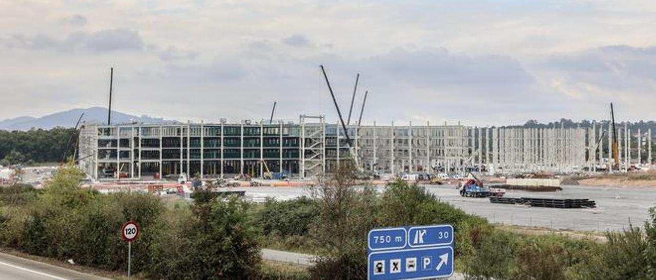 Imagen del futuro centro logístico de Amazon en Asturias.
