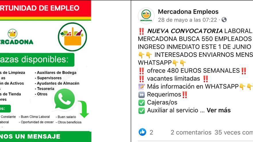 Bulo Mercadona: No se buscan trabajadores a través de Facebook