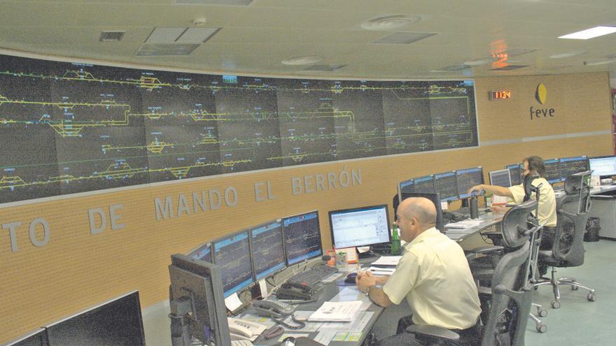 Una pantalla de 30 metros para mejorar el centro estratégico de Feve en El Berrón