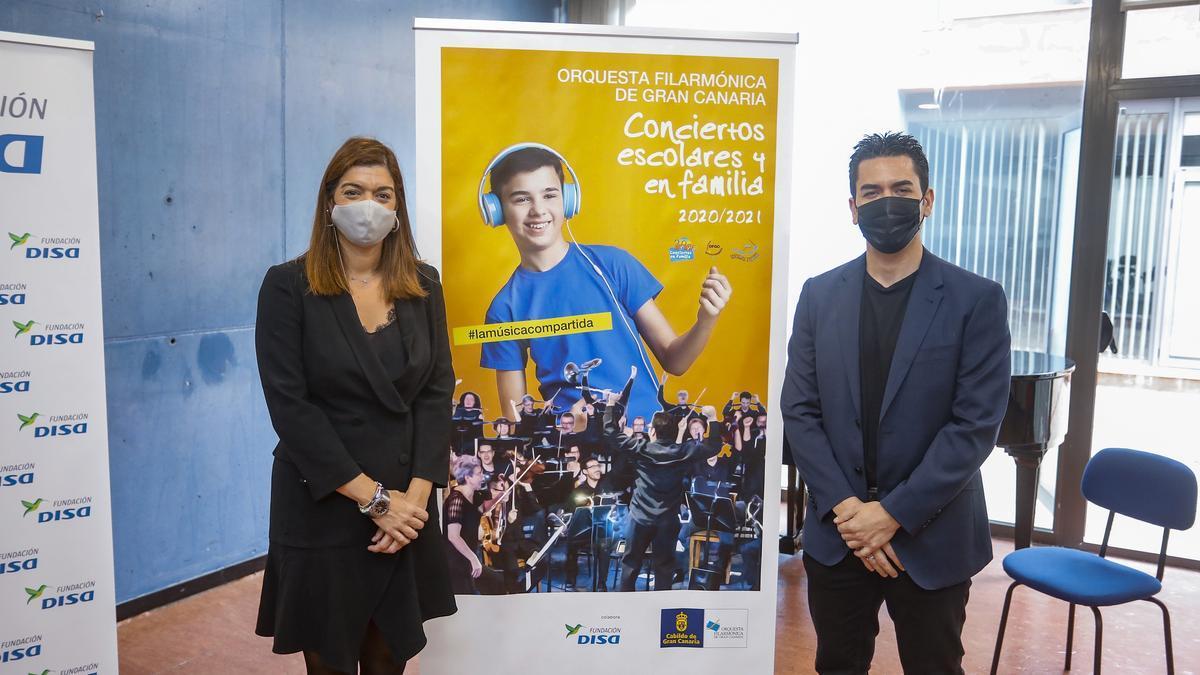 Sara Mateos y Rafael Sánchez-Araña presentan la nueva temporada de conciertos escolares y en familia