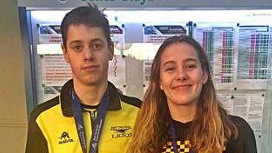 Paula Otero y Carlos Souto, campeones de España infantiles