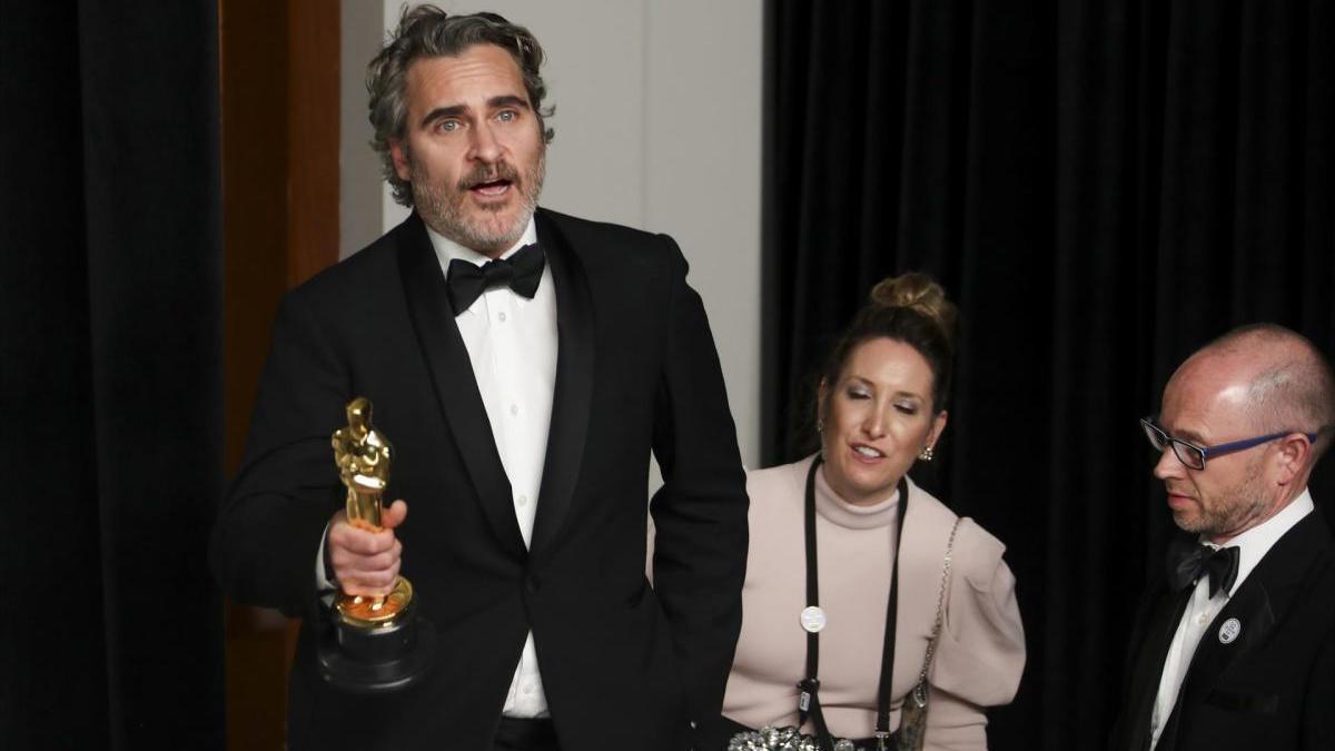 Joaquin Phoenix, en la gala de los Óscar de 2020.