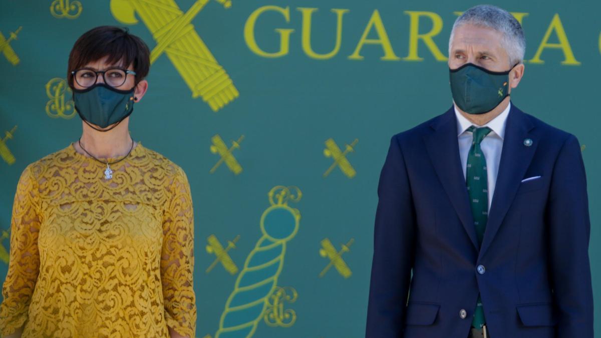 Fernando Grande-Marlaska y María Gámez, en una imagen de archivo