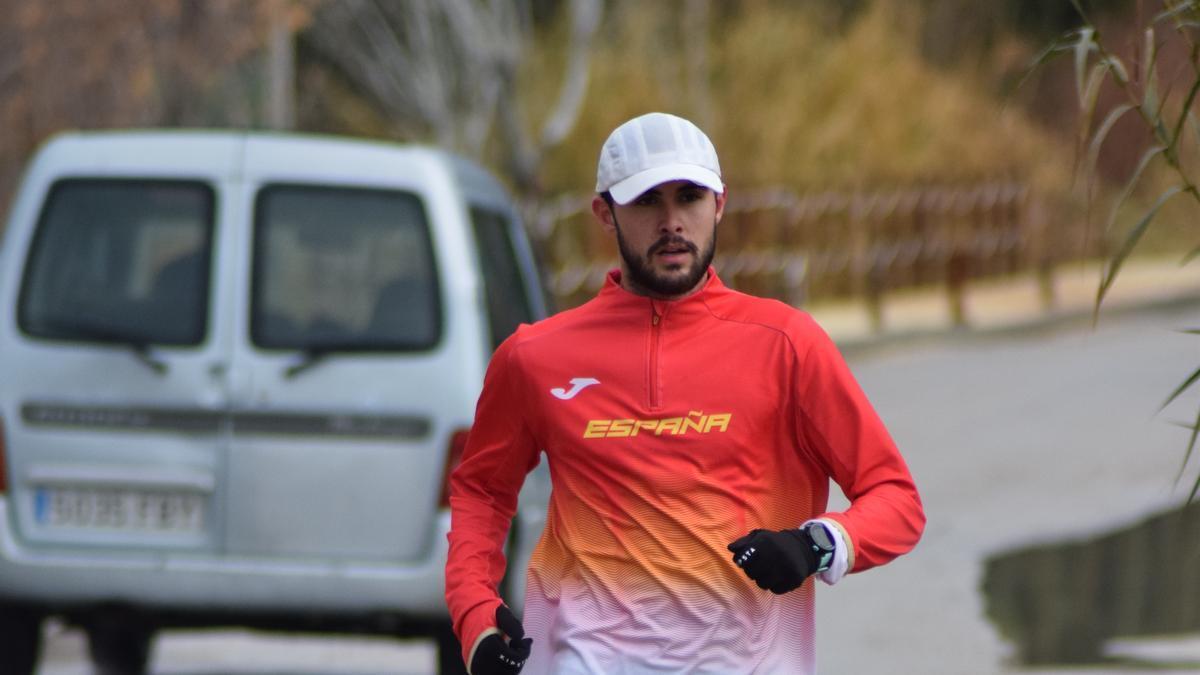 Manuel Bermúdez, en un entrenamiento