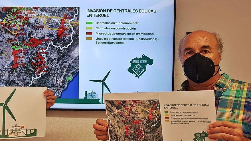 Los proyectos eólicos en tramitación alcanzan el 10% de la superficie de Teruel