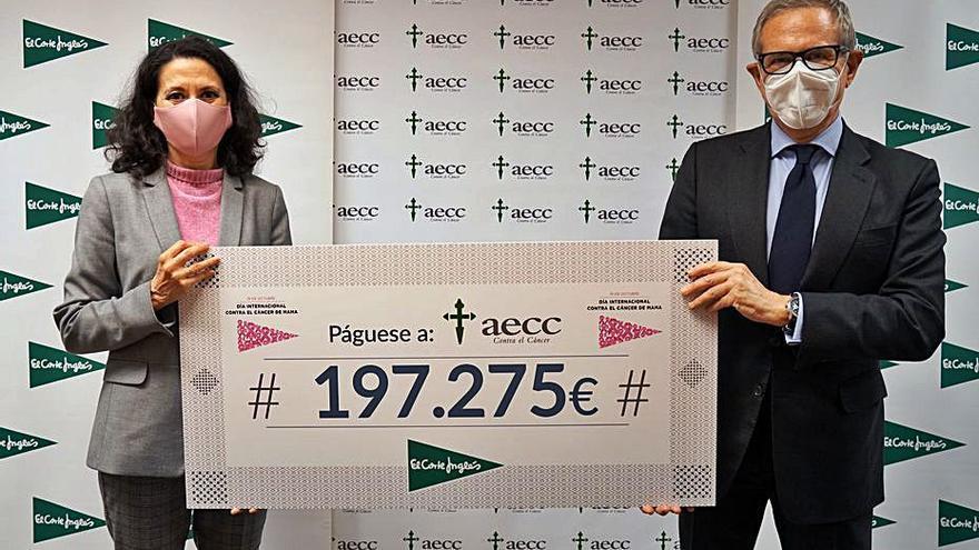 El Corte Inglés dona 200.000 euros a la AECC para investigación en cáncer de mama