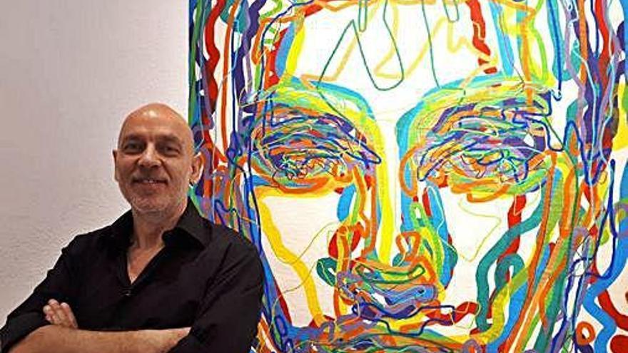 El artista Miguel de Unamuno reflexiona sobre el ser humano en una colectiva