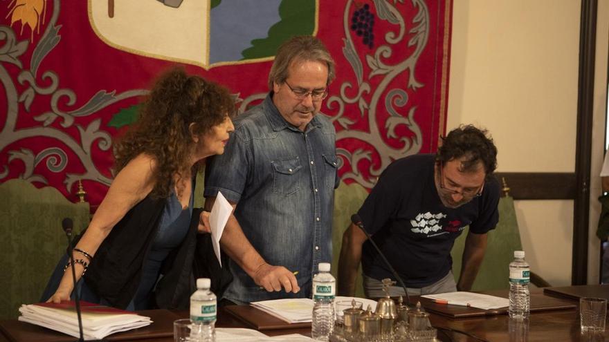 Laura Rivera, Francisco Guarido y Miguel Ángel Viñas.