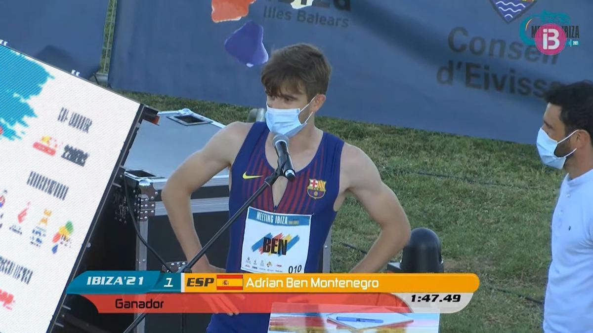 Adrián Ben se impone en el Meeting de Ibiza de Atletismo