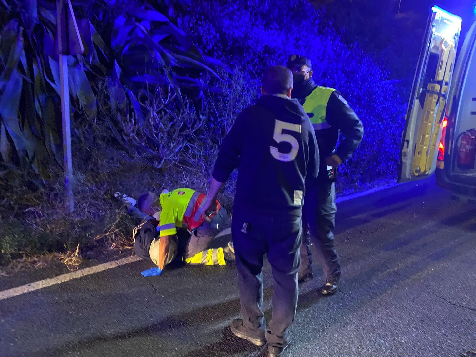 Accidente en Tamaraceite (27/06/21)