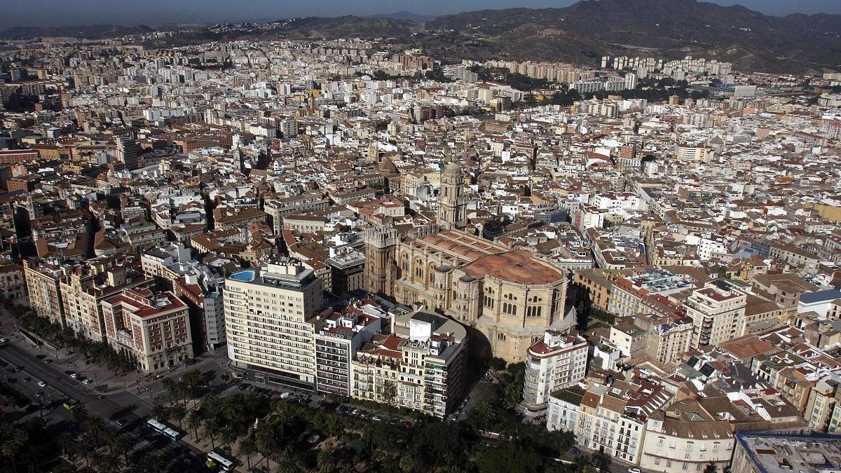 Imagen aérea del Centro Histórico.