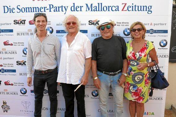 Frank Feldmeier, Will Kauffmann, Peter Zingler und Partnerin