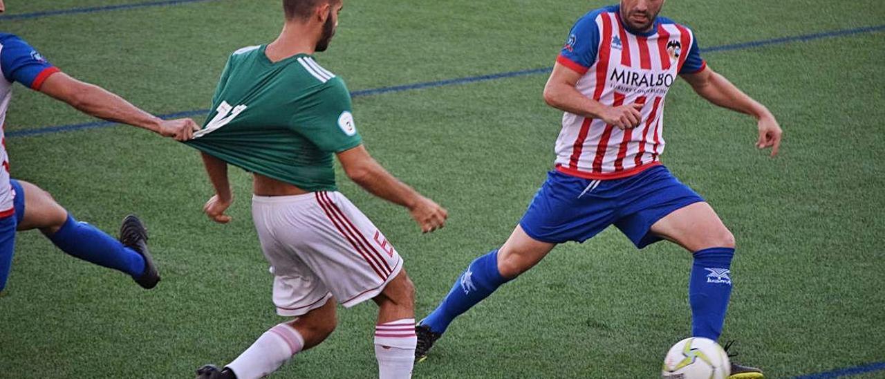Imagen del amistoso entre el Jávea y el Benigànim de esta pretemporada, facilitada por el club.