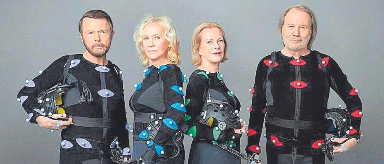Imagen promocional del grupo Abba.