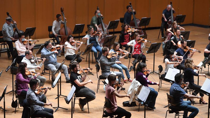 La Sinfónica tocará este viernes con público en el Palacio de la Ópera de A Coruña