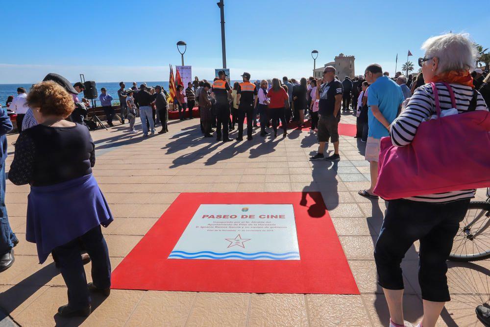 Inauguración del Paseo de Cine de Pilar de la Hora