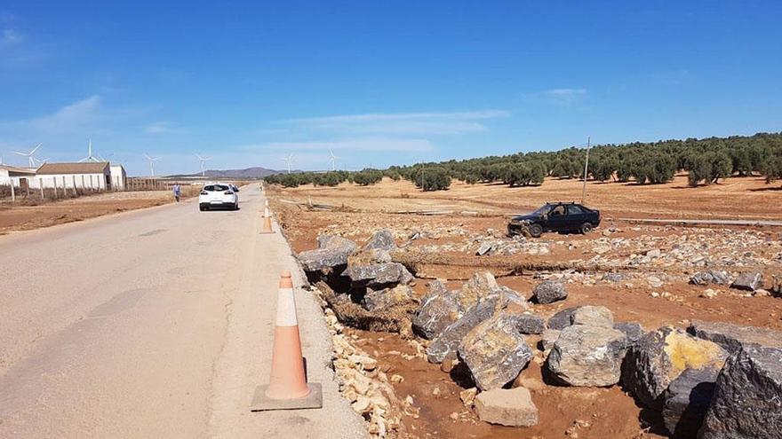 La Junta realiza obras de emergencia en las carreteras afectadas por las lluvias
