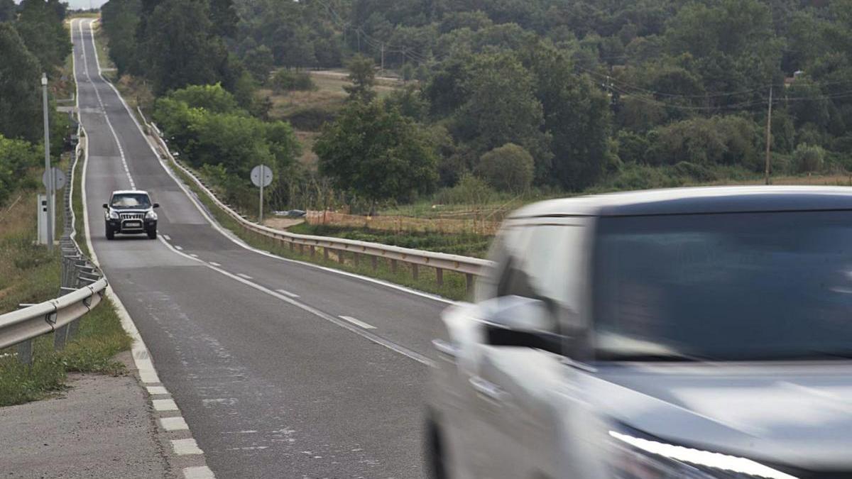 Tram de la carretera C-59 entre Moià i Castellterçol