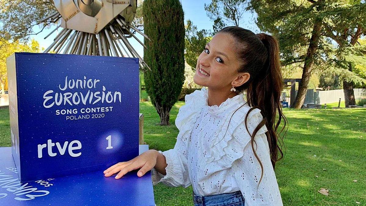 Soleá es la niña de menor edad de todos los participantes en el concurso.   RTVE