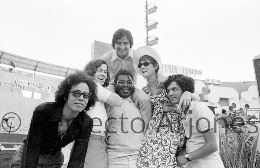 LUC BARRETO, PARTICIPANTE DEL XII FESTIVAL DE LA CANCIÓN. 16 DE JULIO 1970.