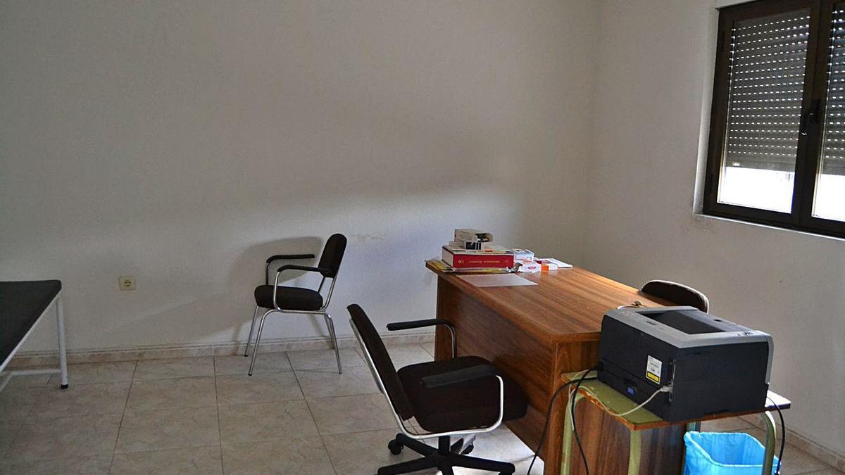 Consulta del médico en Cional, sin uso desde marzo de 2020.