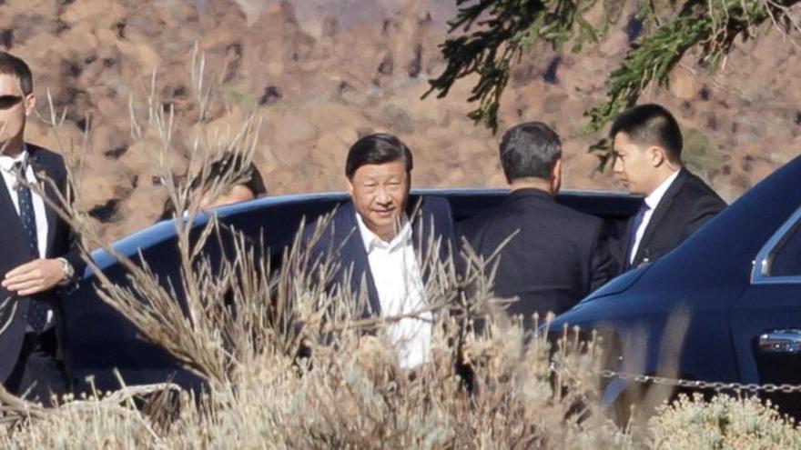 Xi Jinping visita el Parque Nacional del Teide