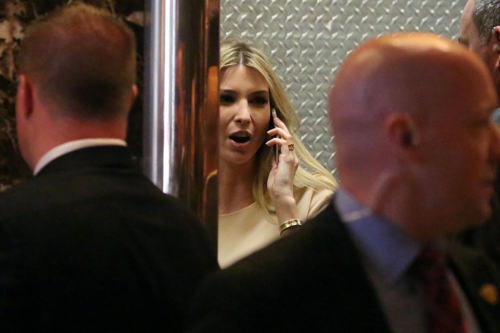Ivanka Trump en la Torre Trump.