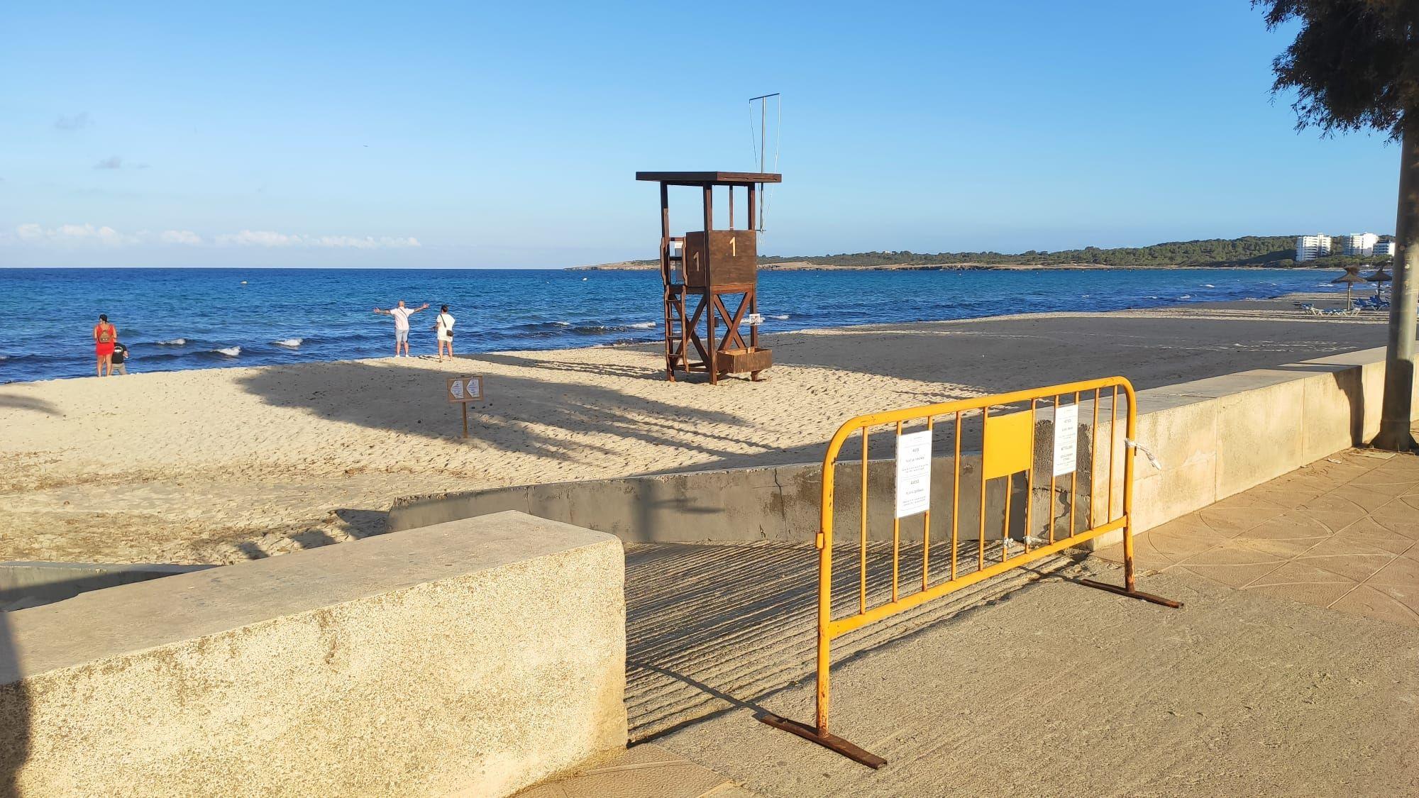 Cierre de playas en la Part Forana por Sant Joan