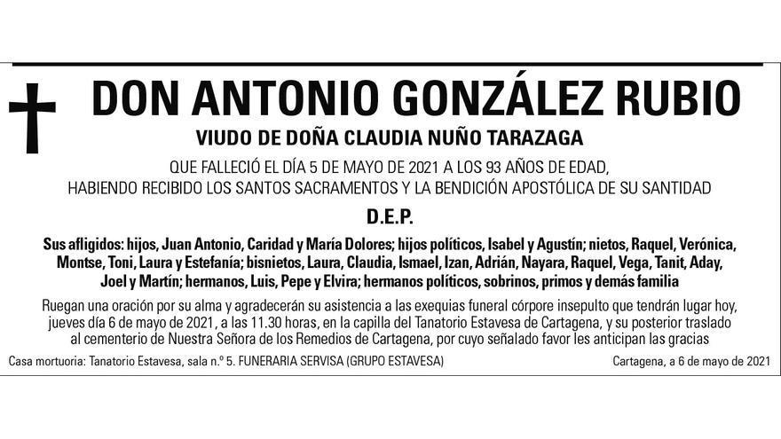 D. Antonio González Rubio