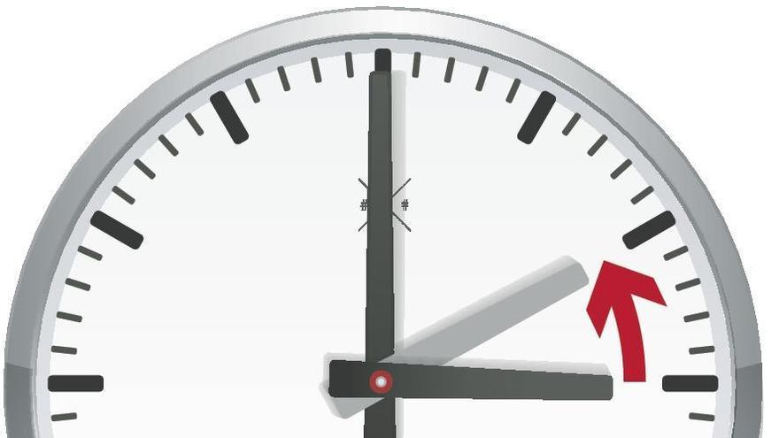Los relojes se atrasaron una hora