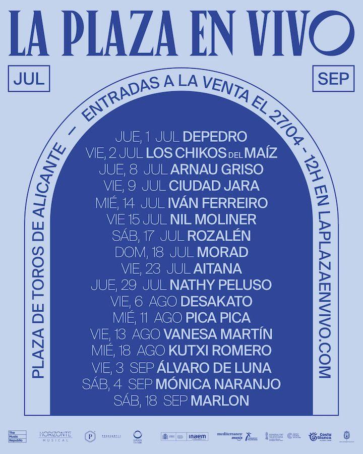 Conciertos en la Plaza de Toros de Alicante