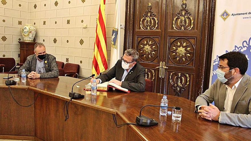 La Diputació de Lleida analitza amb la Seu les inversions clau a la ciutat