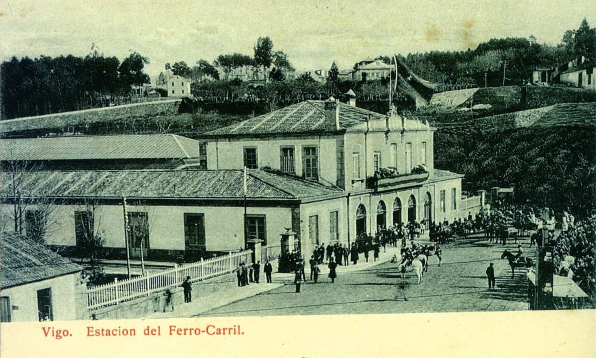 Viaje en tren a la estación de Vigo