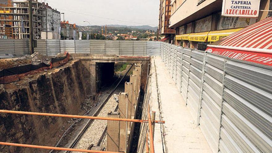 El AVE supera los dos años de trabajos en el casco urbano con seis tajos de obra abiertos