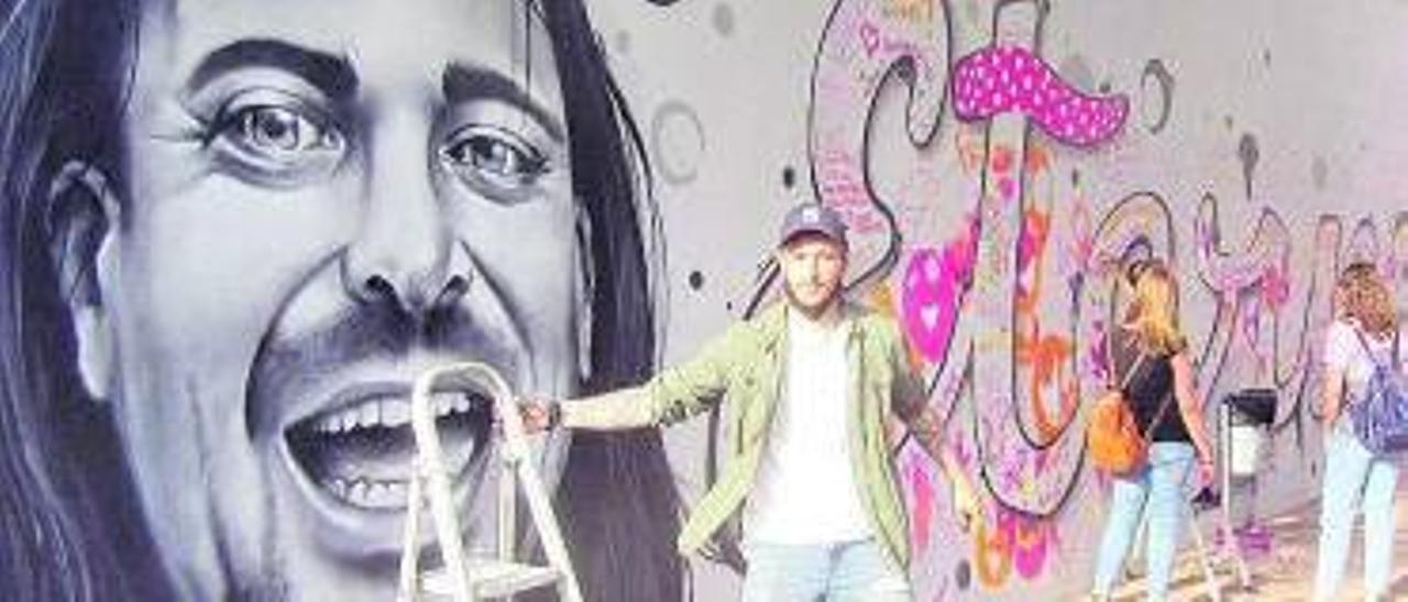 Un dels artistes participants (Nacho Cano Mawe). | V, RUIZ