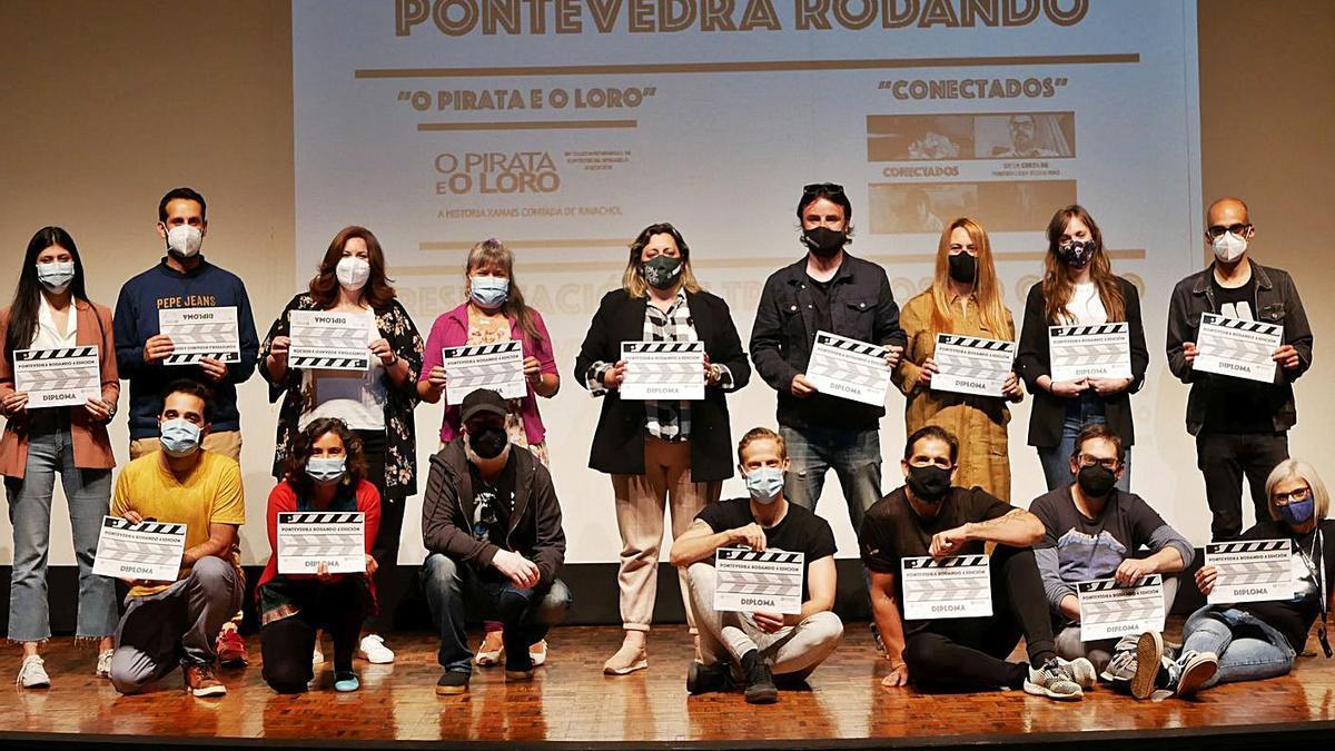 Entrega de diplomas del ciclo audiovisual Pontevedra Rodando   FDV