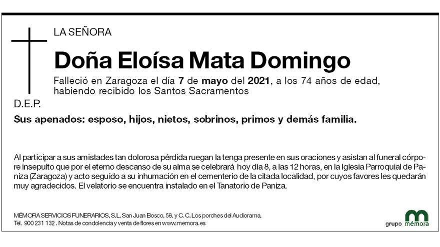 Eloísa Mata Domingo