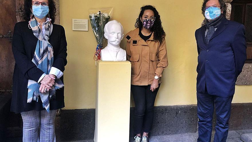 Conmemoración del 168 aniversario del nacimiento de José Martí