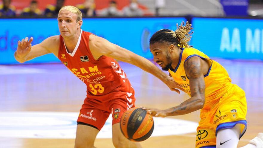 El UCAM llega tarde en la derrota ante el Gran Canaria